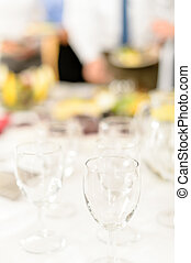 toast, gros plan, lunettes, business, célébration