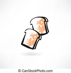 toast grunge icon