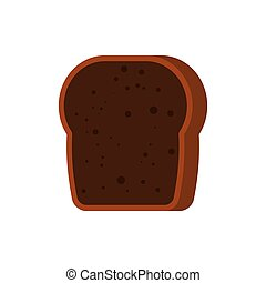 toast., isolated., illustration, nourriture, vecteur, gâté,...