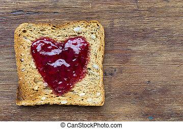 toast on wood