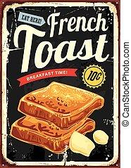 toast, restauracja, francuszczyzna znaczą