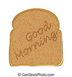 toast, scheibe, morgen