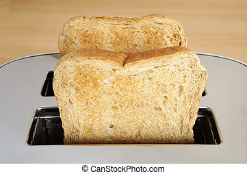 toast - two slices of toast in toaster