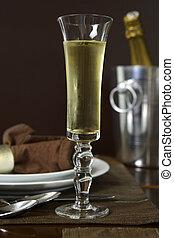 toast, szampan