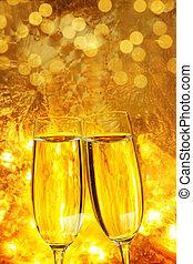 toast, valentines, vorabend, tag, neu , champagner, oder, jahres