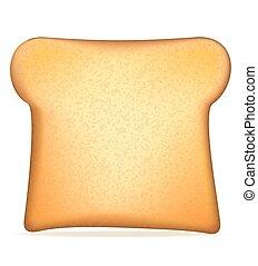 toast vector illustration isolated