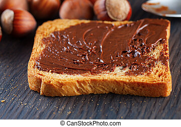 Toast with chocolate