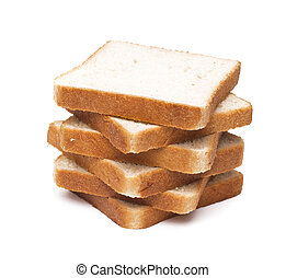 toasted bread slices for breakfast isolated