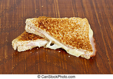 Toasted cheese and ham