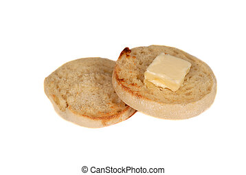Toasted english muffin with butter - A toasted english ...