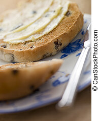 Toasted Tea Cake with Butter