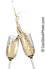toasten, champagner- flöten