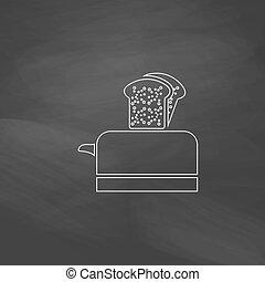 Toaster computer symbol