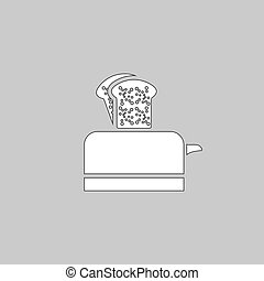 Toaster computer symbol