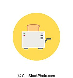 toaster  flat color icon