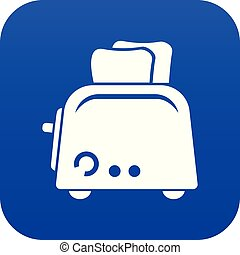 Toaster icon blue vector