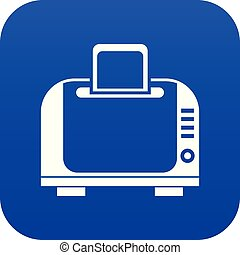Toaster icon digital blue