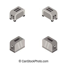 toaster icon illustrated in vector on white background