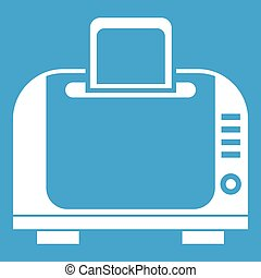 Toaster icon white