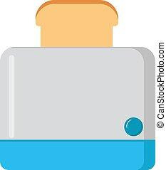 Toaster, illustration, vector on white background.