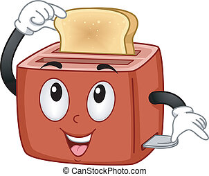 Toaster Mascot - Mascot Illustration Featuring a Toaster...