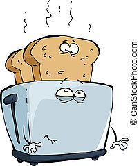 Toaster  on a white background vector illustration