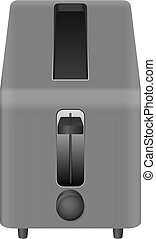 Toaster on a white background. Vector illustration.