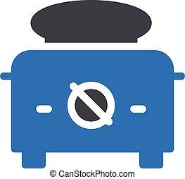 toaster vector glyph colour icon