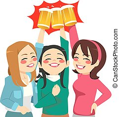 Toasting Girl Friends