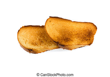 toasts on a white background isolated