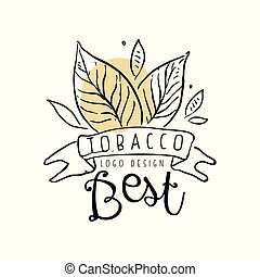 Tobacco best logo design, emblem can be used for smoke shop...