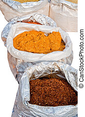 tobacco - high grade, tobacco in sacks forsale at the market...