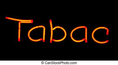 Tobacco neon sign