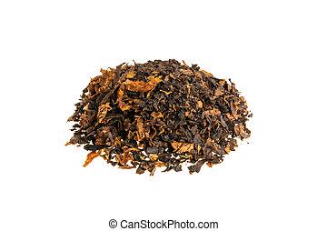 Tobacco on white background