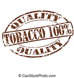 Tobacco one hundred percent - Rubber stamp with text tobacco...