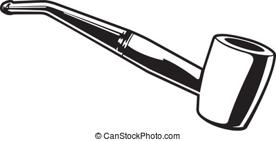 Tobacco Pipe - This is a vector graphic of a tobacco pipe.