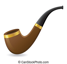 tobacco pipe vector illustration