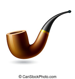 Vector illustration of a tobacco pipe