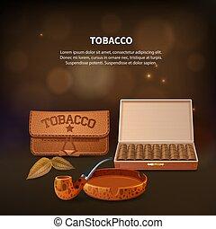 Tobacco Realistic Composition