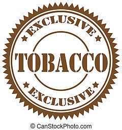 Tobacco-stamp - Rubber stamp with text Tobacco,vector...