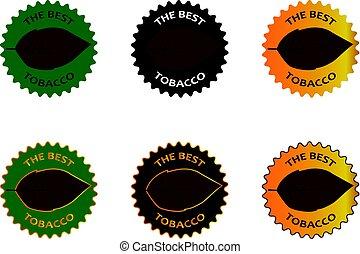 tobacco the best sticker - vector illustration