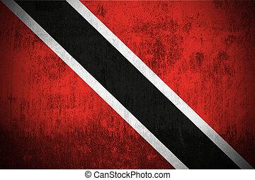 tobago, bandera, grunge, trinidad