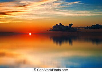 tobago, tramonto