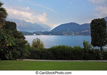 toblino, lago, montanhas