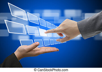 tocco, interfaccia, schermo, tecnologia, virtuale