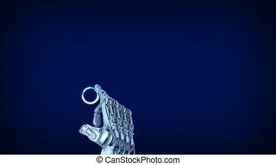 tocco, lavori in corso,  robot, braccio, schermo