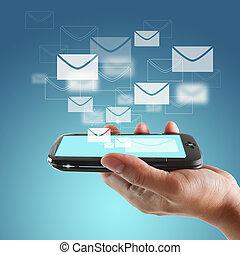 tocco, mobile, schermo, telefono