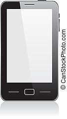 tocco, smartphone, vettore