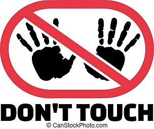 tocco, sospiro, stampe, mano, non faccia