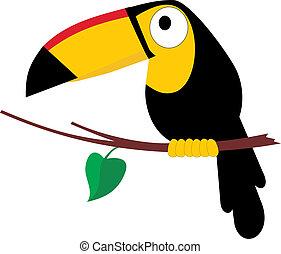 Toco Toucan - Abstract vector illustration of tropical bird...